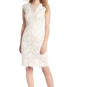 Vince Camuto Illusion Ivory Lace Dress